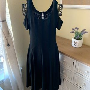Small Xhilaration Black Dress With Cold Shoulders